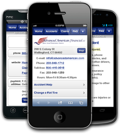 Mobile insurance website for Advanced American Financial at m.advancedamerican.com